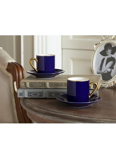 Madame Coco Phillipa 4'lü Kahve Fincan Takımı Lacivert